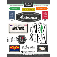 Scrapbook Customs - Postage Map Collection - Cardstock Stickers - Arizona