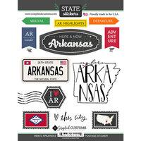 Scrapbook Customs - Postage Map Collection - Cardstock Stickers - Arkansas