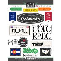 Scrapbook Customs - Postage Map Collection - Cardstock Stickers - Colorado