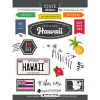 Scrapbook Customs - Postage Map Collection - Cardstock Stickers - Hawaii