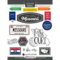 Scrapbook Customs - Postage Map Collection - Cardstock Stickers - Missouri