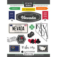 Scrapbook Customs - Postage Map Collection - Cardstock Stickers - Nevada