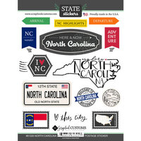 Scrapbook Customs - Postage Map Collection - Cardstock Stickers - North Carolina