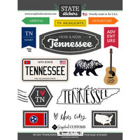 Scrapbook Customs - Postage Map Collection - Cardstock Stickers - Tennessee