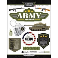 Scrapbook Customs - Military Collection - Cardstock Stickers - Army Occupation
