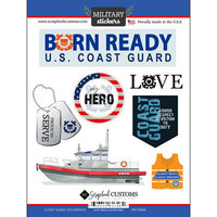 Scrapbook Customs - Military Collection - Cardstock Stickers - Coast Guard Occupation