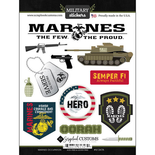 Scrapbook Customs - Military Collection - Cardstock Stickers - Marines Occupation