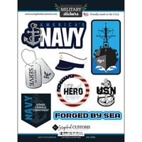Scrapbook Customs - Military Collection - Cardstock Stickers - Navy Occupation