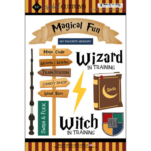 Scrapbook Customs - Inspired By Collection - Cardstock Stickers - Wizarding World 2