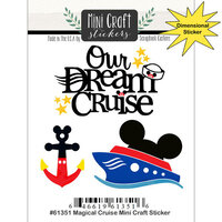 Scrapbook Customs - Inspired By Collection - Mini Craft Cardstock Stickers - Magical Cruise