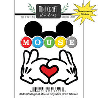 Scrapbook Customs - Inspired By Collection - Mini Craft Cardstock Stickers - Magical Mouse Boy