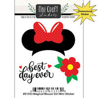 Scrapbook Customs - Inspired By Collection - Mini Craft Cardstock Stickers - Magical Mouse Girl