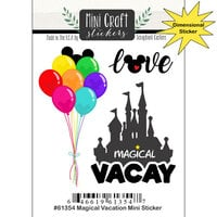 Scrapbook Customs - Inspired By Collection - Mini Craft Cardstock Stickers - Magical Vacation