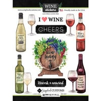 Scrapbook Customs - Drinking Collection - Cardstock Stickers - Wine, I Love Sticker