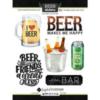 Scrapbook Customs - Drinking Collection - Cardstock Stickers - Beer, I Love Sticker