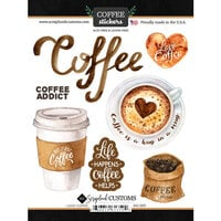 Scrapbook Customs - Drinking Collection - Cardstock Stickers - Coffee, I Love Sticker