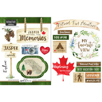 Scrapbook Customs - Canadian National Park Watercolor Collection - Cardstock Stickers - Jasper National Park Watercolor Canada