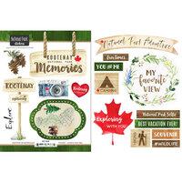 Scrapbook Customs - Canadian National Park Watercolor Collection - Cardstock Stickers - Kootenay National Park Watercolor Canada