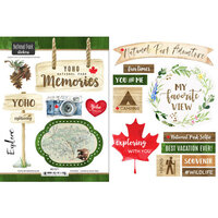 Scrapbook Customs - Canadian National Park Watercolor Collection - Cardstock Stickers - Yoho National Park Watercolor Canada