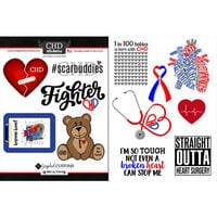 Scrapbook Customs - Heart Warrior Collection - Cardstock Stickers - Heart Warrior