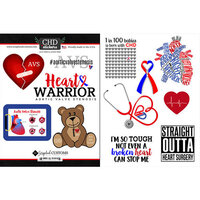 Scrapbook Customs - Heart Warrior Collection - Cardstock Stickers - AVS