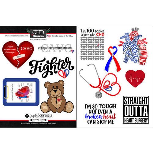 Scrapbook Customs - Heart Warrior Collection - Cardstock Stickers - CAVC