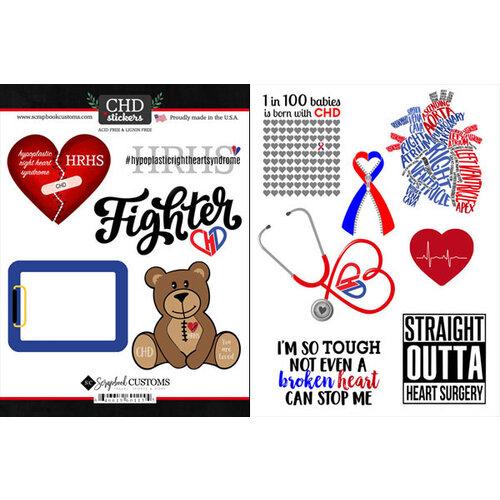 Scrapbook Customs - Heart Warrior Collection - Cardstock Stickers - HRHS