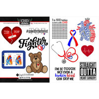 Scrapbook Customs - Heart Warrior Collection - Cardstock Stickers - TOF