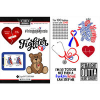 Scrapbook Customs - Heart Warrior Collection - Cardstock Stickers - Tricuspid Atresia