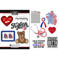 Scrapbook Customs - Heart Warrior Collection - Cardstock Stickers - VSD