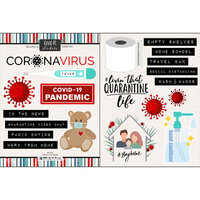 Scrapbook Customs - Covid-19 Collection - Cardstock Stickers