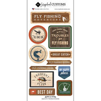 Scrapbook Customs - Life Is Better Collection - Cardstock Stickers - Fly Fishing