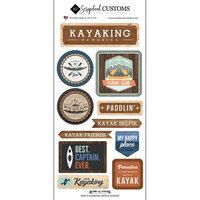 Scrapbook Customs - Life Is Better Collection - Cardstock Stickers - Kayaking