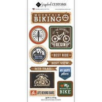 Scrapbook Customs - Life Is Better Collection - Cardstock Stickers - Mountain Biking