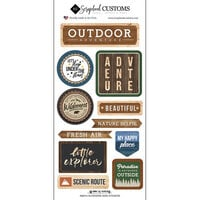 Scrapbook Customs - Life Is Better Collection - Cardstock Stickers - Outdoors