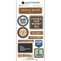 Scrapbook Customs - Life Is Better Collection - Cardstock Stickers - Paddle Boarding