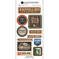 Scrapbook Customs - Life Is Better Collection - Cardstock Stickers - Rappelling