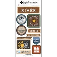 Scrapbook Customs - Life Is Better Collection - Cardstock Stickers - On The River
