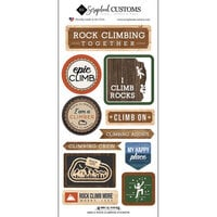 Scrapbook Customs - Life Is Better Collection - Cardstock Stickers - Rock Climbing