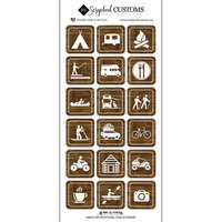 Scrapbook Customs - Life Is Better Collection - Cardstock Stickers - Outdoor Recreation Signs