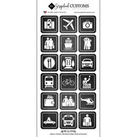 Scrapbook Customs - Life Is Better Collection - Cardstock Stickers - Travel Recreation Signs