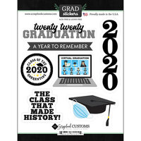 Scrapbook Customs - Graduation Collection - Cardstock Stickers - Graduation 2020 Quarantine