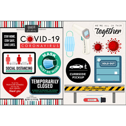 Scrapbook Customs - Covid-19 Collection - Cardstock Stickers - 2