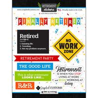Scrapbook Customs - Retirement Collection - Cardstock Stickers - Happy Retirement