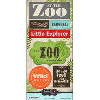 Scrapbook Customs - Cardstock Stickers - At the Zoo