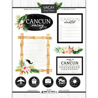 Scrapbook Customs - Vacay Collection - Cardstock Stickers - Cancun