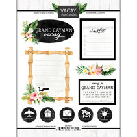 Scrapbook Customs - Vacay Collection - Cardstock Stickers - Grand Cayman