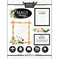 Scrapbook Customs - Vacay Collection - Cardstock Stickers - Maui