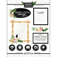 Scrapbook Customs - Vacay Collection - Cardstock Stickers - St. Lucia