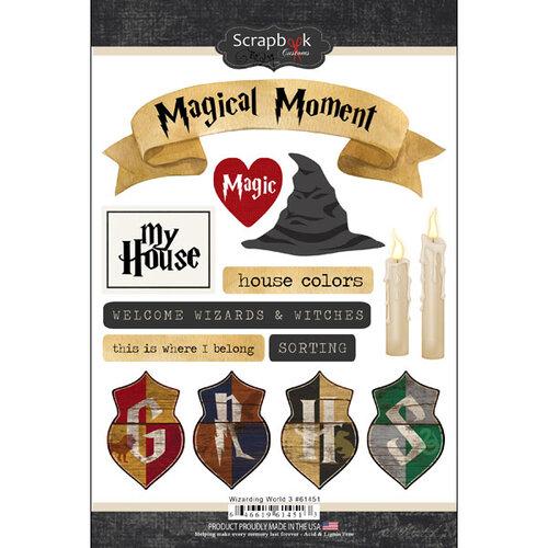 Scrapbook Customs - Wizarding World Collection - Cardstock Stickers - Set Three